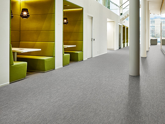 Grey textile allergy approved flooring for education
