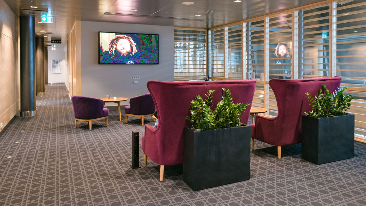 Primeclass lounge area Riga airport