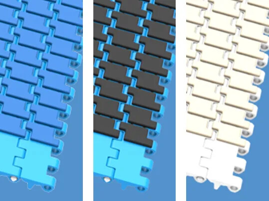 Reliable Conveying with New Modular Belt Type's Large Friction Top Surface