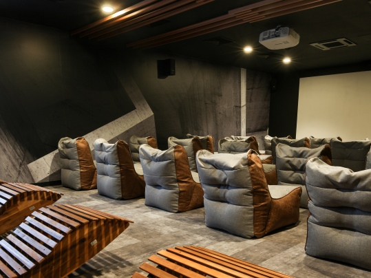 iQ Student Accommodation Flotex Concrete Planks in Cinema Room