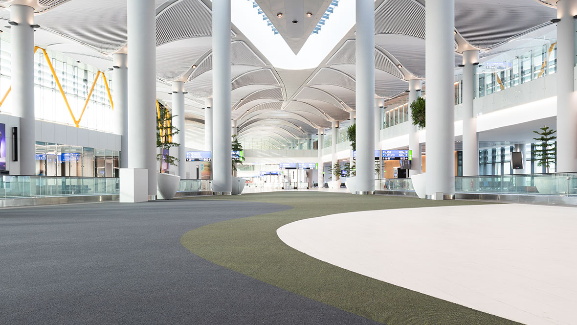 Wide floor product range for public buildings