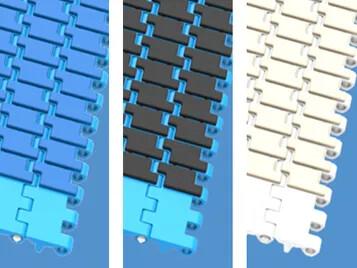 可实现可靠输送的新型大面积橡胶防滑表面的塑料单元带