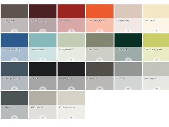 Colour overview Furniture Linoleum