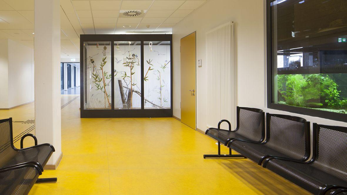 Leonore-Goldschmidt-Schule Wartebereich im Flur – Forbo Marmoleum Real