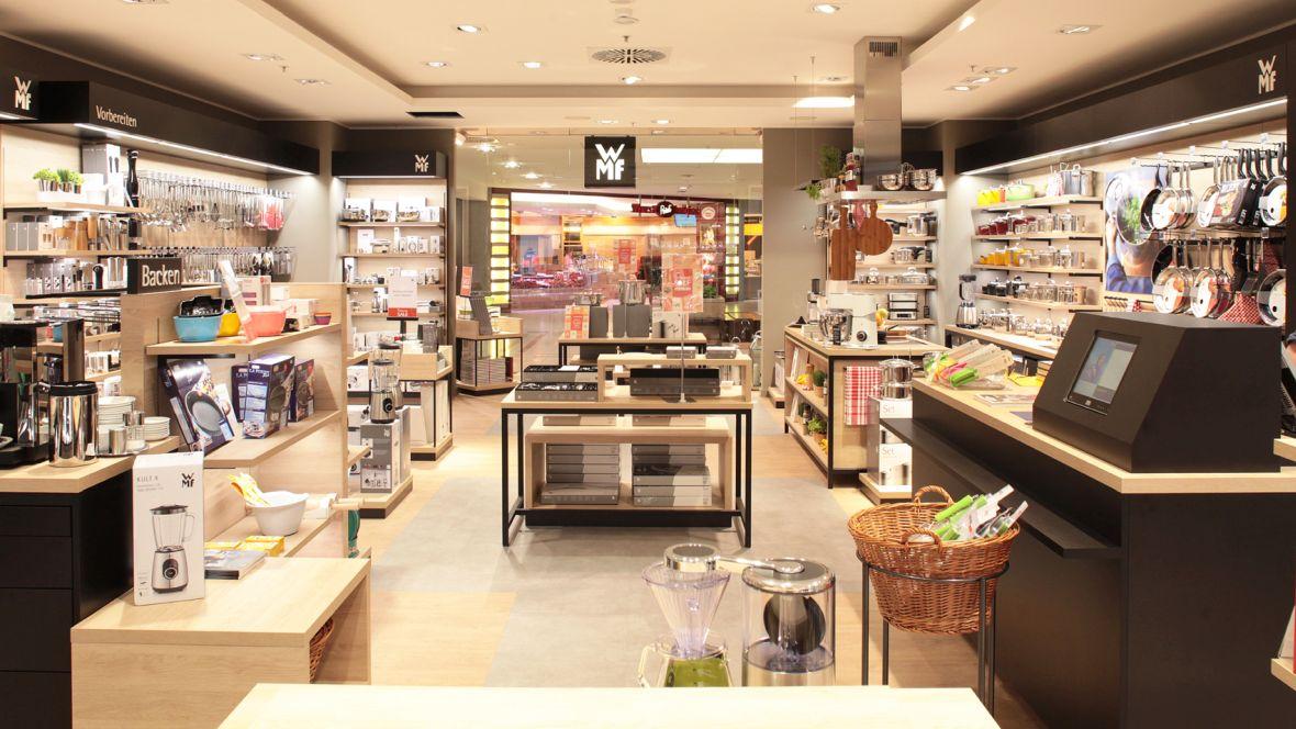 WMF Shop im OEZ München Kassierbereich – Forbo Allura Wood