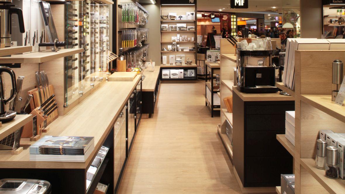 WMF Shop im OEZ München Verkaufsraum – Forbo Allura Wood