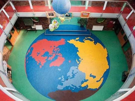 Atalanta International School - Bespoke flooring designs