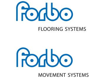 Markenübersicht 2012 mit den Geschäftsbereichen Forbo Flooring Systems und Forbo Movement Systems.