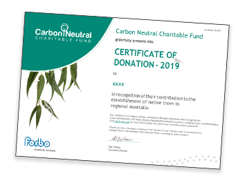 CNCF certificate of donation