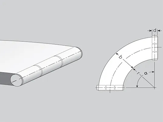 Curved belts can be fabricated from one or more segments.