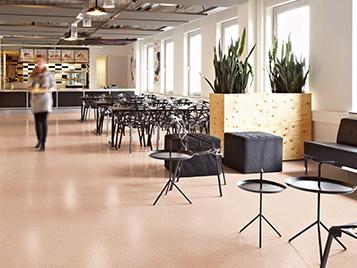 Contract sector using vinyl flooring