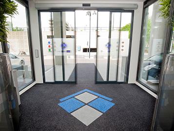 Entrance area with Forbo entrance matting zone.