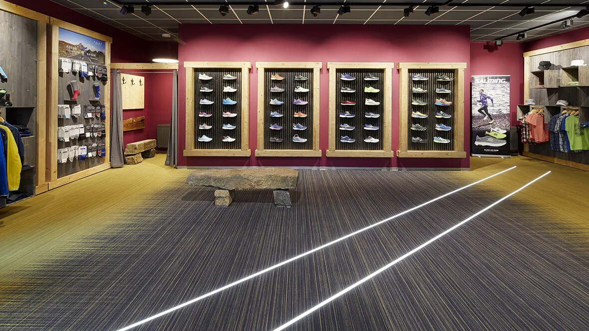 Flotex by Starck Twilight Amber/Antique - Flooring for retail store
