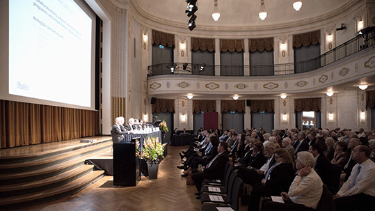 Podium at the Forbo Shareholders' Meeting.