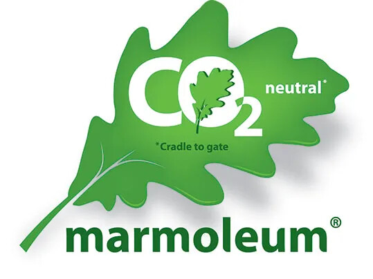 Marmoleum CO2 neutral logo cradle to gate