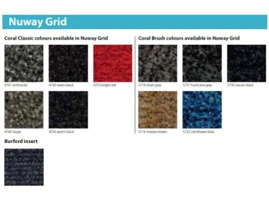 Tapis de propreté rigide Nuway grid - coloris | Forbo Flooring Systems