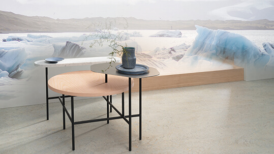 Marmoleum Marbled 3428 fade arctic scenery