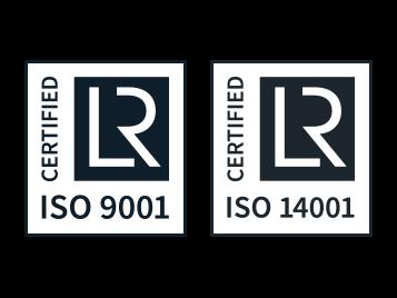 ISO 9001 & 14001 logos