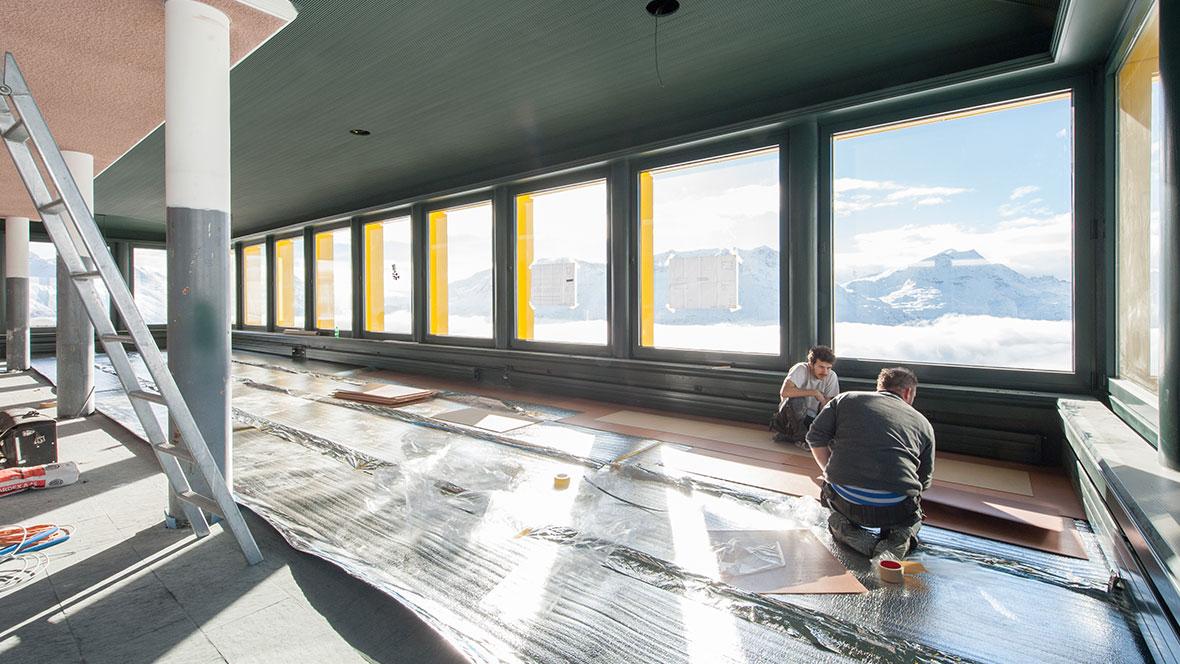 White Marmot - Verlegung - Untergrundvorbereitungen