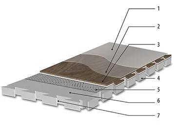Revêtement de sol LVT pour charges lourdes Allura puzzle | Forbo Flooring Systems