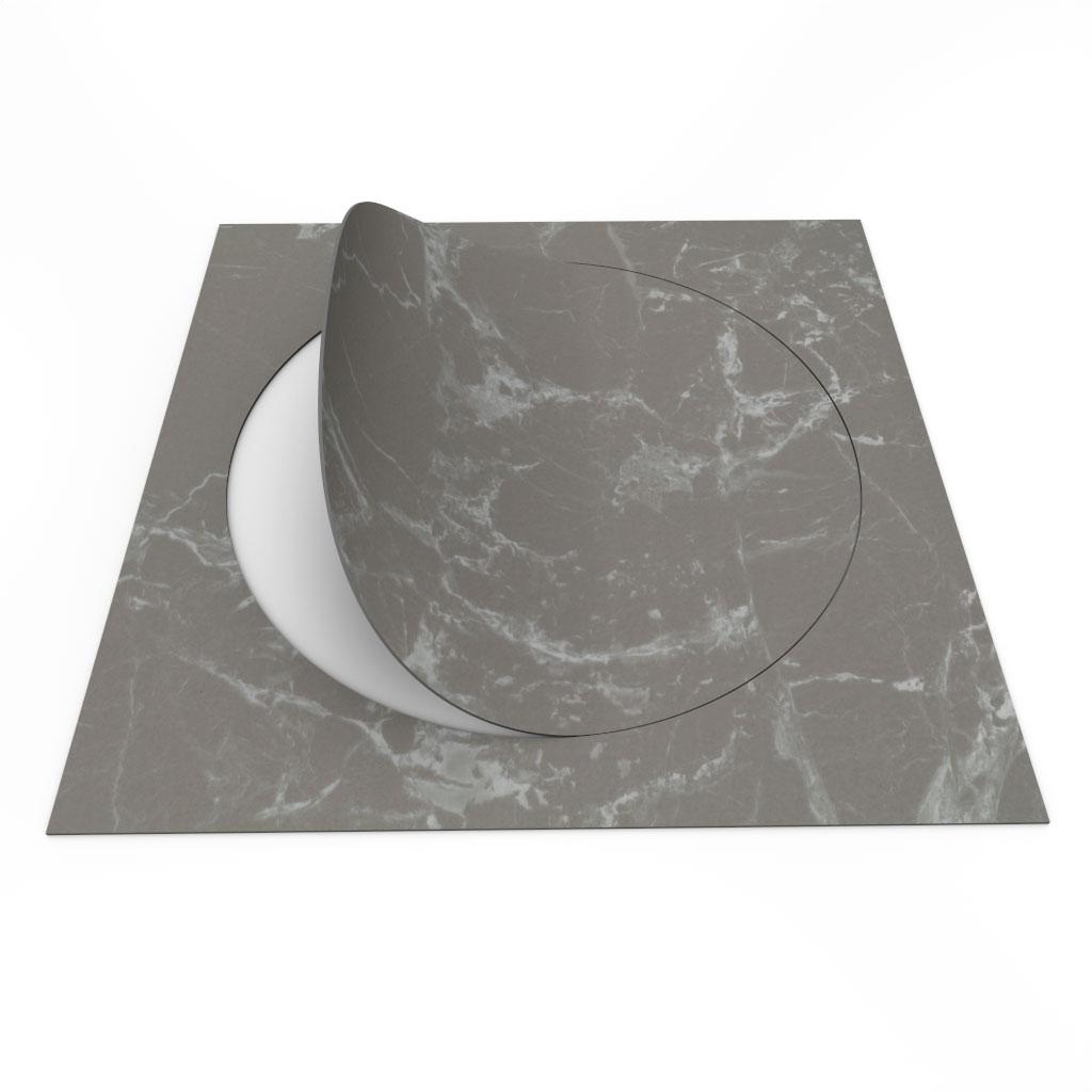 Allura Circle 63552 grey marble