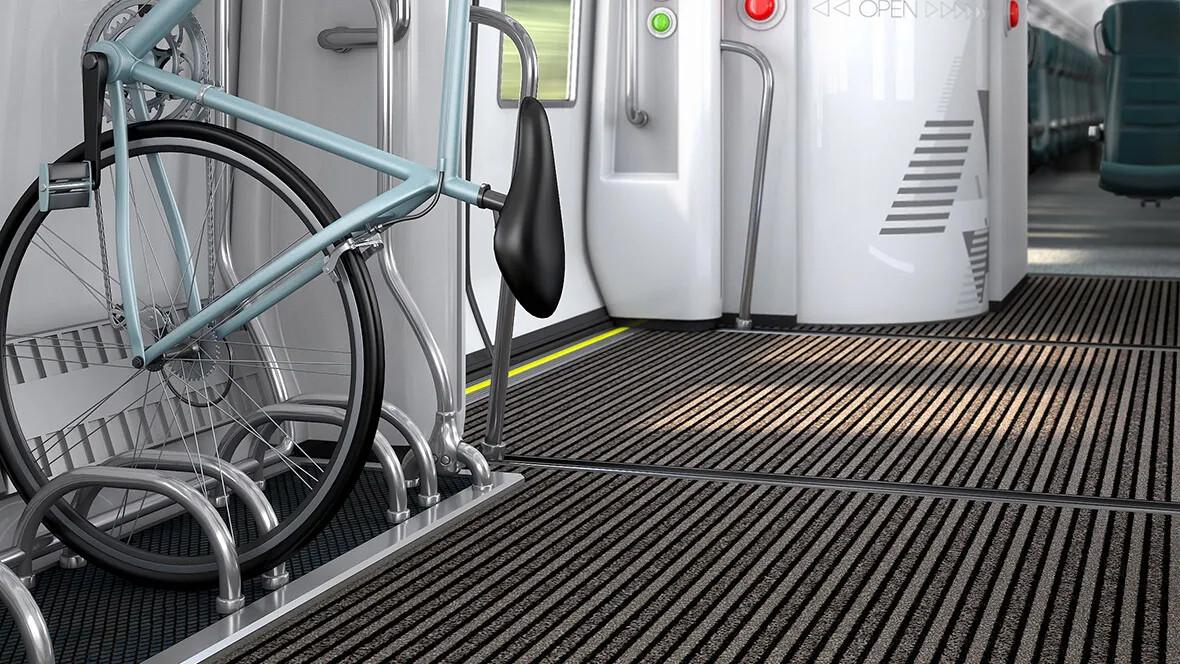 Vstupní čisticí rohož pro vlaky - Coral FR