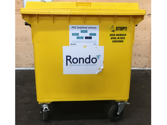 afvalcontainer snijresten vinyl rondo