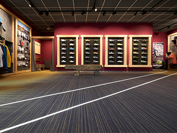 Flooring for retail stores