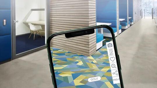 Forbo Floorplanner Office smartphone