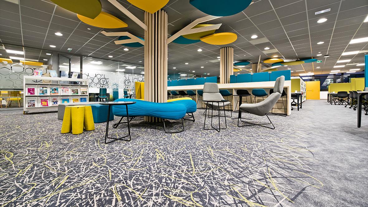 Flotex by Starck flooring in the ISARA engineering school in Lyon, France