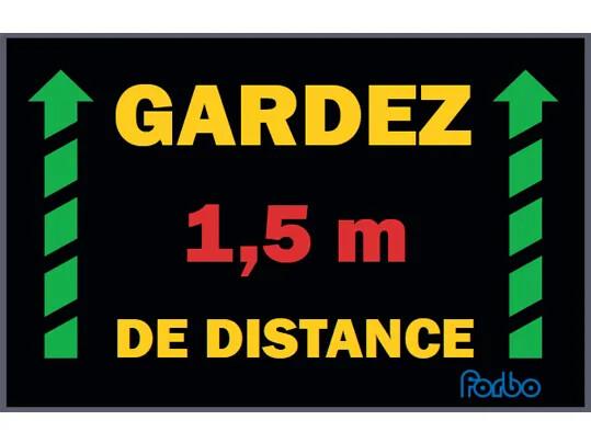 Tapis Coral_Gardez 1,5m de distance | Forbo Flooring Systems