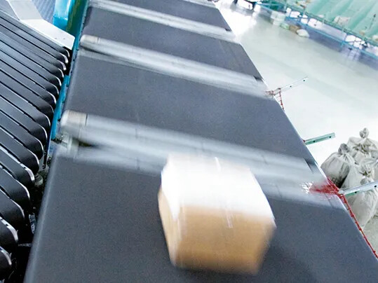 lateral sorter in a distribution center