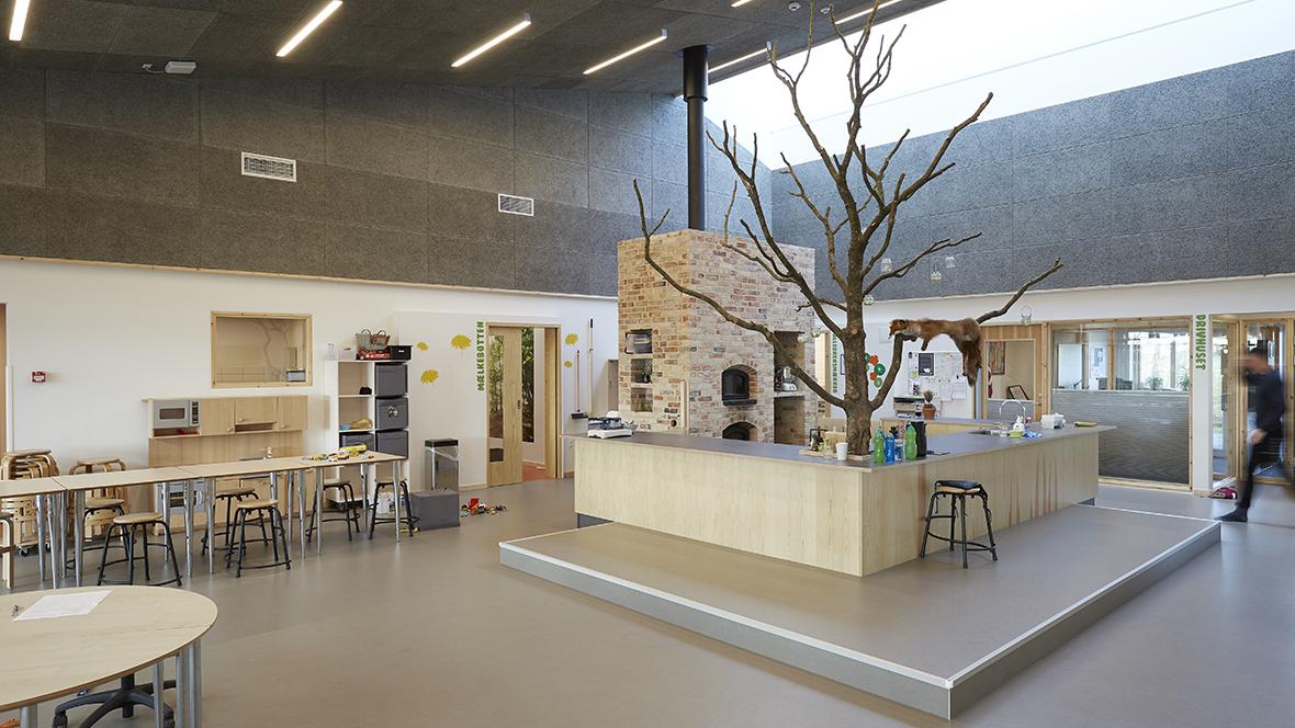 Børnehuset Myretuen - Marmoleum marbled, overveiw