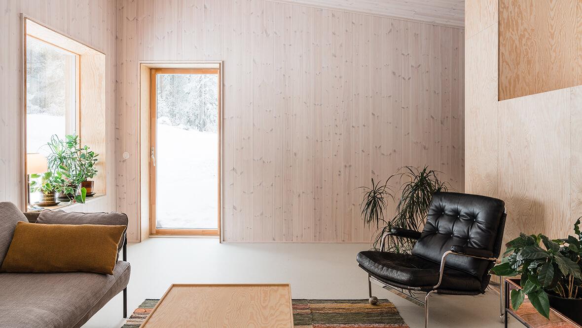 Kronanbacken Marmoleum Cocoa 3582 earl grey chocolate - Nordmark & Nordmark arkitekter AB