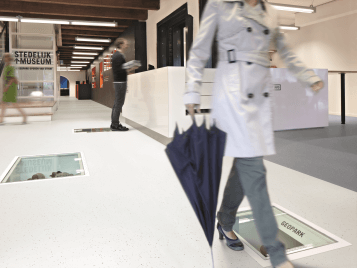 Step safety flooring: guaranteed life time slip resistant performance