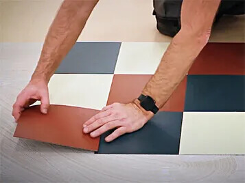 Forbo Marmoleum Modular Installation instruction video