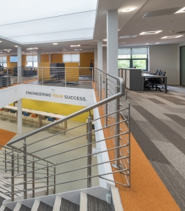 Tessera carpet tiles in Parker Hannifin Offices