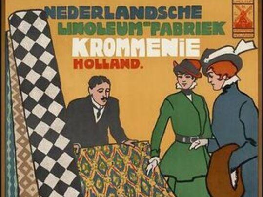 Reclamposter Nederlandse Linoleum Fabriek Forbo uit de jaren 20