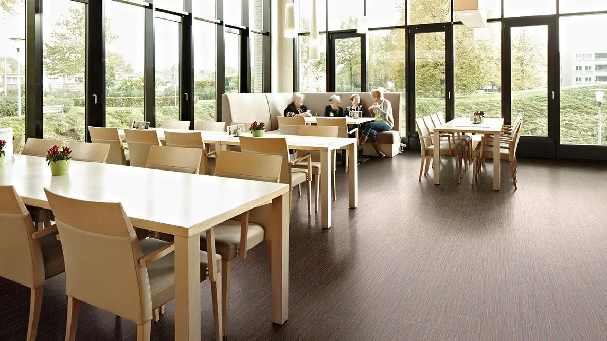 Allura wood luxury vinyl tiles in restaurant