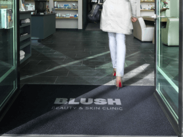 Coral logo entrance flooring