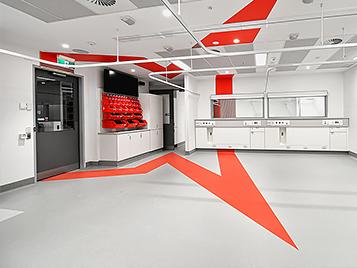 RMIT University Stimulated Hospital Space - Marmoleum Flooring