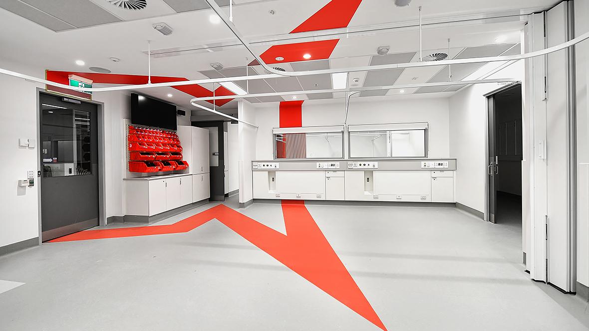 RMIT University Health Stimulated Space - Marmoleum Floors
