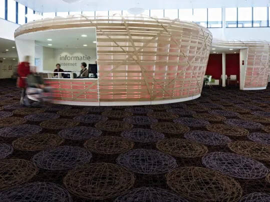 Flotex Vision textilmatta i hotellreception