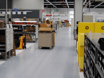 Colorex ESD flooring for fork lift trucks