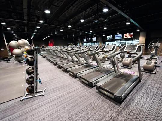 Flotex - le revêtement de sol textile performant: Flotex dans un studio fitness