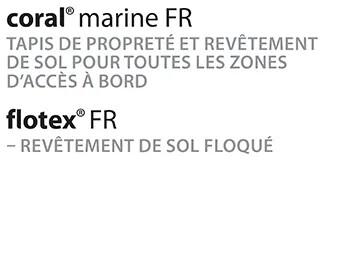 Revêtement de sol Flotex, sol textile adapté au transport maritime