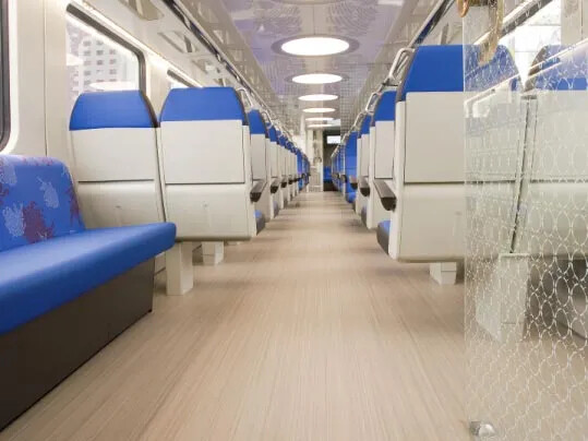 Dutch Railways - Marmoleum FR linoleum rail flooring