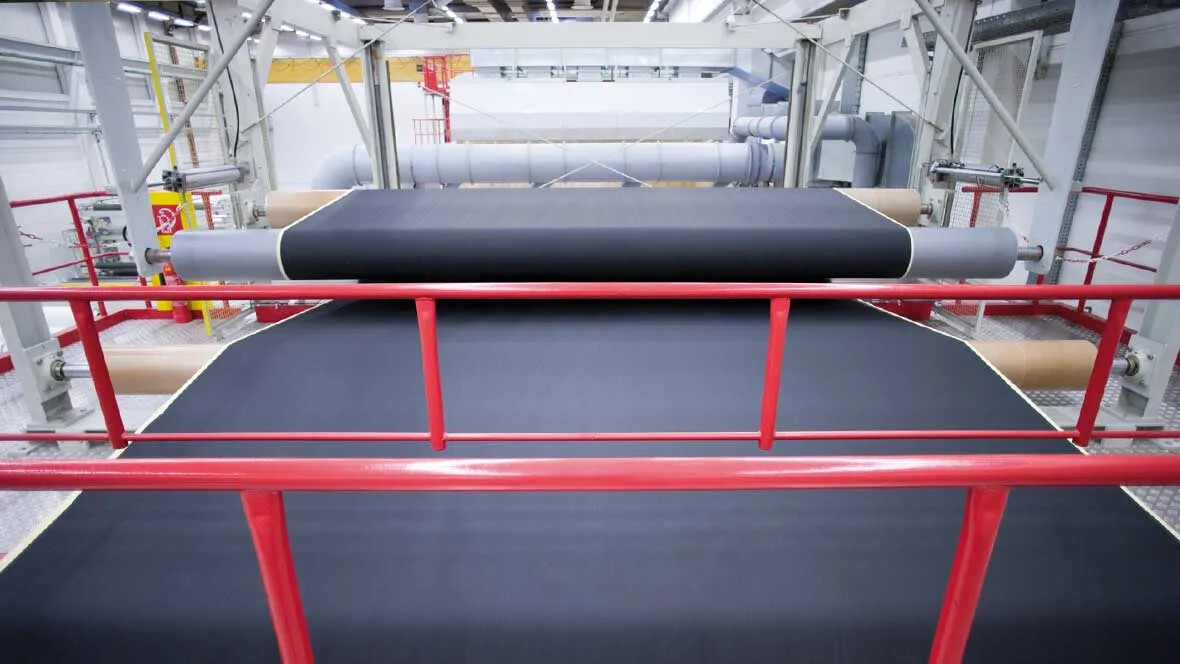 Production of Transilon conveyor belt material