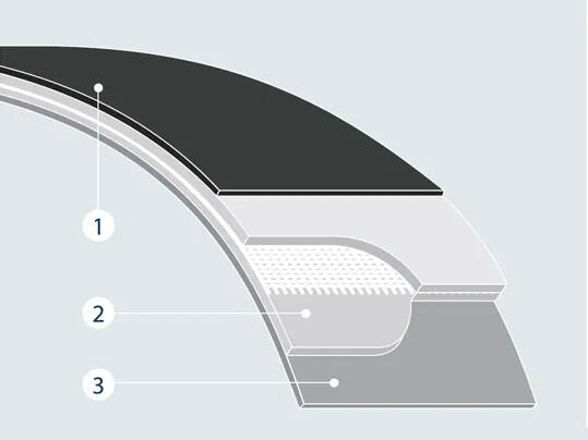 Polyamide fabric tension member