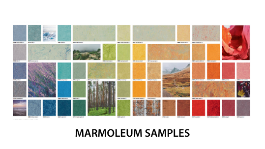 Marmoleum samples